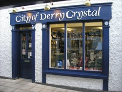 City of Derry Crystal Shop is situated in The Craft Village, a centre for a number of crafts people