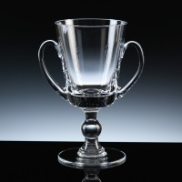 Balmoral Glass Sports Trophy Loving Cup 7 inch, Single, Gift Boxed